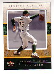 2003 Fleer Genuine #50 Barry Zito