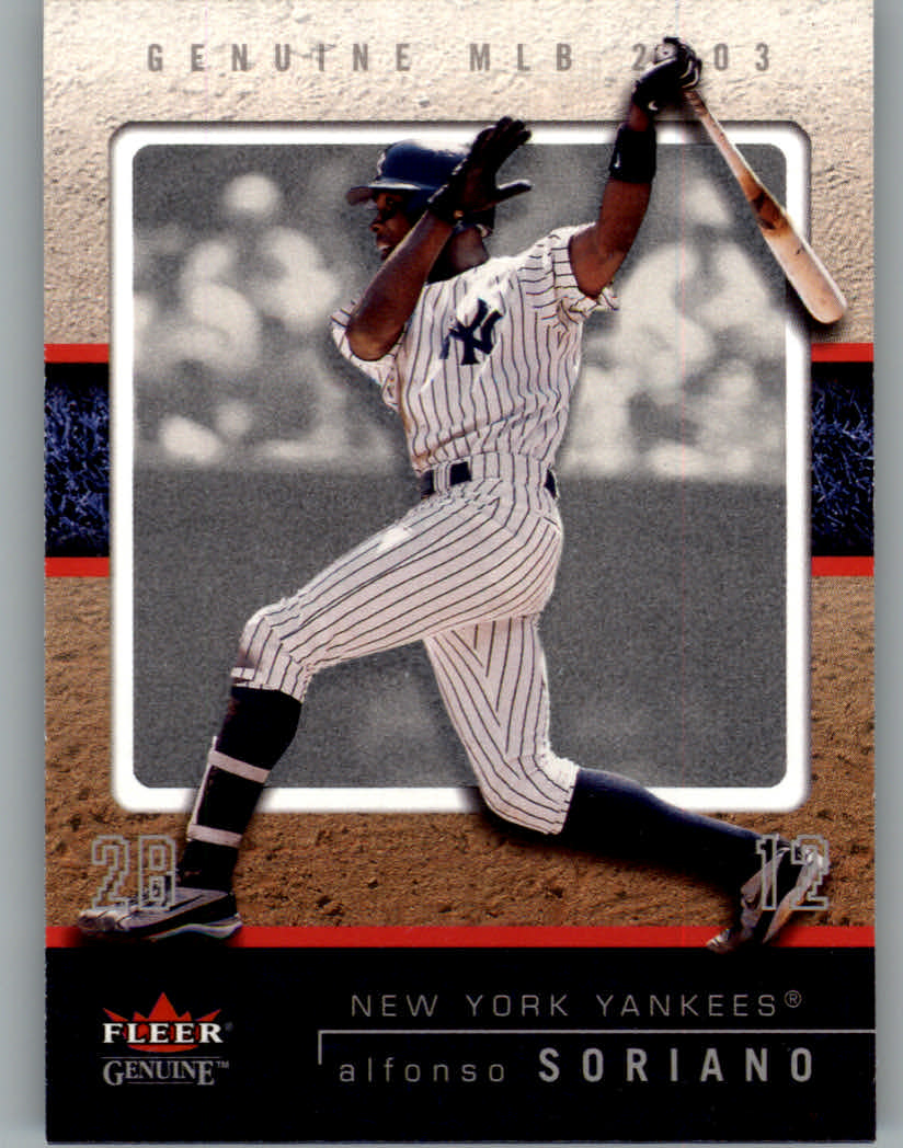 2003 Fleer Genuine #56 Alfonso Soriano