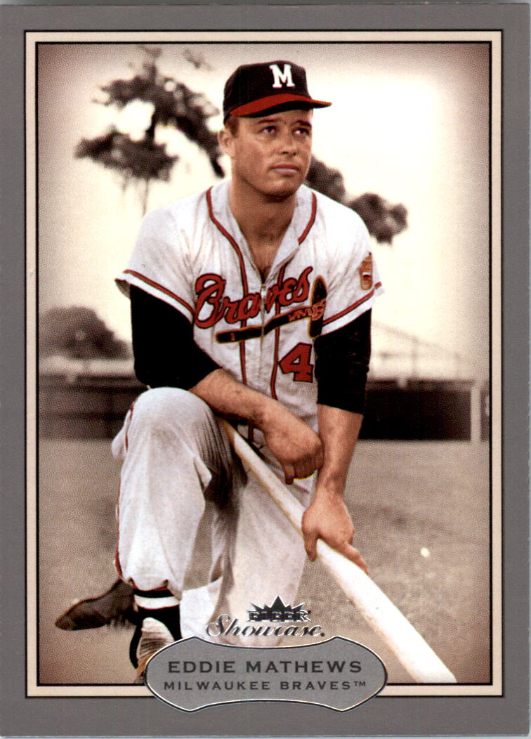 2003 Fleer Showcase #101 Eddie Mathews