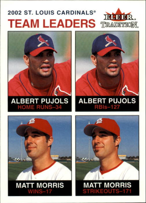 2003 Fleer Tradition #27 A.Pujols/M.Morris TL