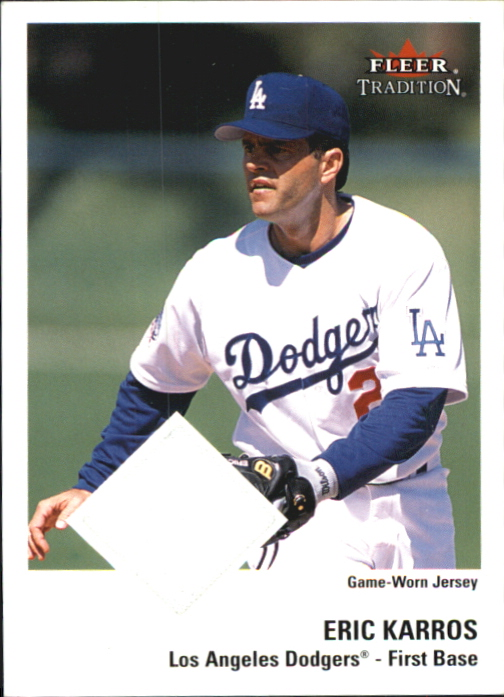 2003 Fleer Tradition Game Used #97 Eric Karros Jsy