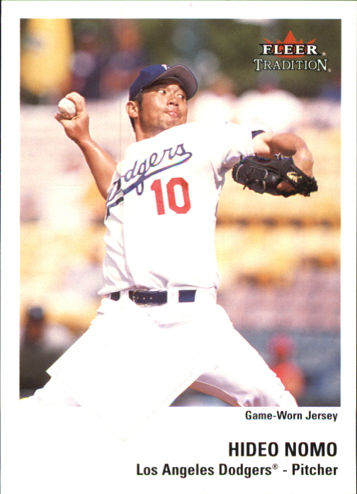 2003 Fleer Tradition Game Used #180 Hideo Nomo Jsy SP/200