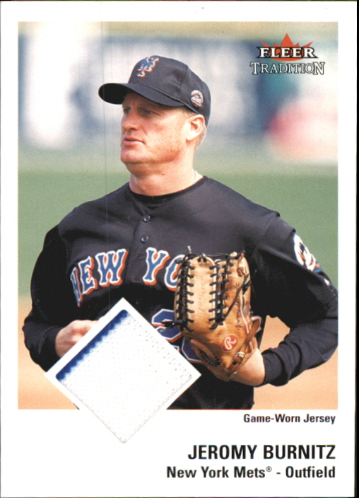 2003 Fleer Tradition Game Used #185 Jeromy Burnitz Jsy SP/200