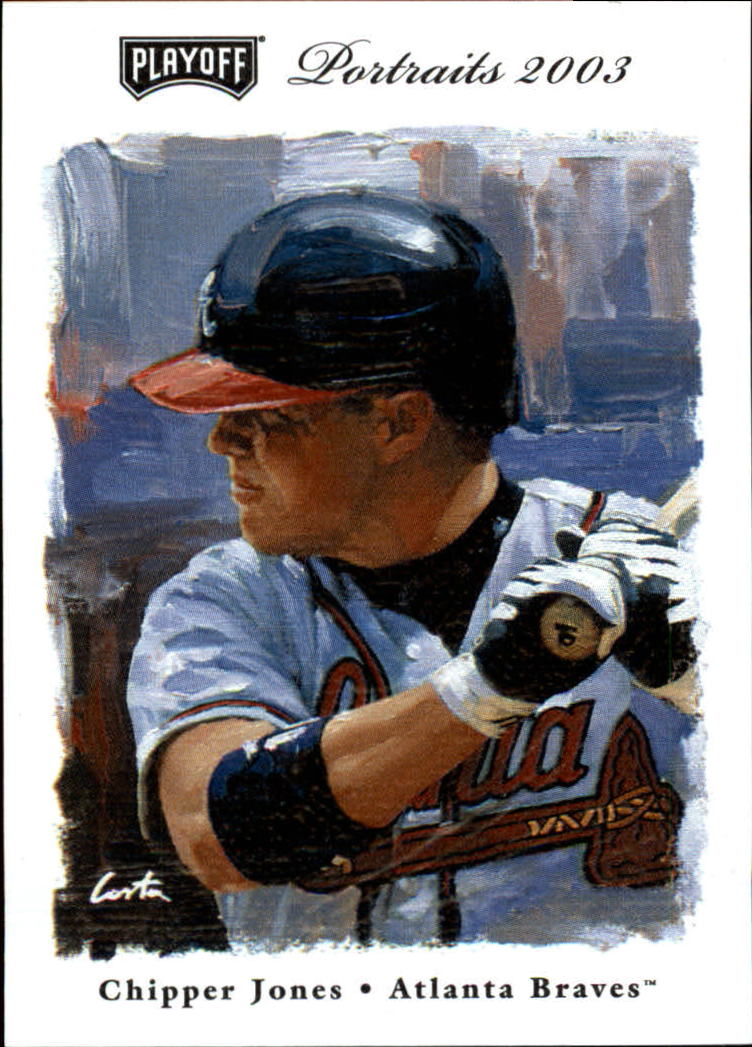 2003 Playoff Portraits #35 Chipper Jones