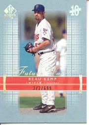 2003 SP Authentic #196 Beau Kemp FW RC