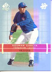 2003 SP Authentic #234 Rosman Garcia FW RC