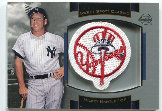 2003 Sweet Spot Classics Patch Cards #MM1 Mickey Mantle