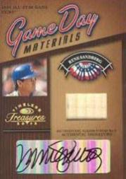 2003 Timeless Treasures Game Day Autographs #10 Ryne Sandberg Bat/25