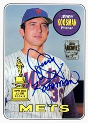 2003 Topps All-Time Fan Favorites Archives Autographs #JK Jerry Koosman F