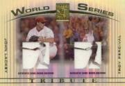 2003 Topps Tribute Contemporary World Series Double Relics #LP John Lackey Uni/Troy Percival Uni