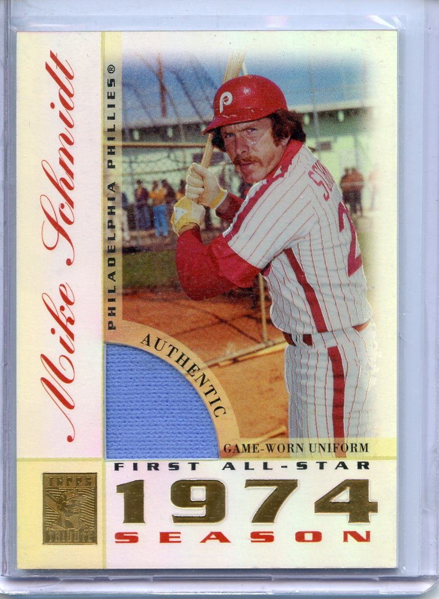 2003 Topps Tribute Perennial All-Star Relics #MS Mike Schmidt Uni P