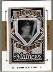 2003 UD Patch Collection #143 Eddie Mathews HOF