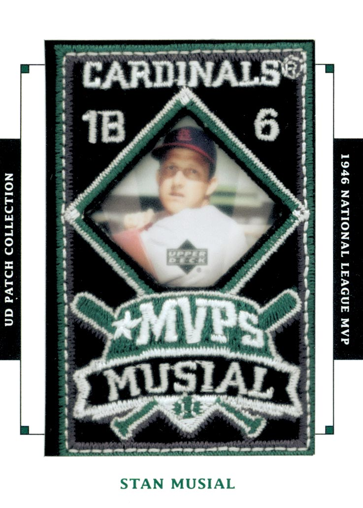 2003 UD Patch Collection MVP's #MVP20 Stan Musial 46 MVP