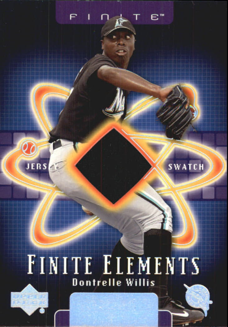 2003 Upper Deck Finite Elements Game Jersey #DW Dontrelle Willis