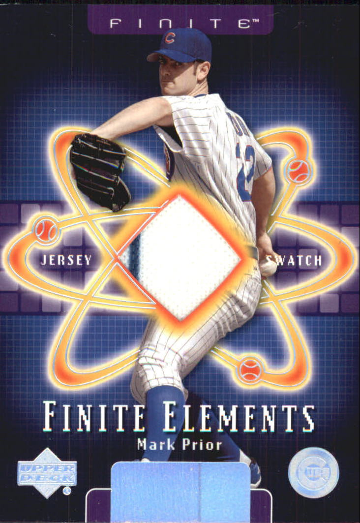2003 Upper Deck Finite Elements Game Jersey #MP Mark Prior