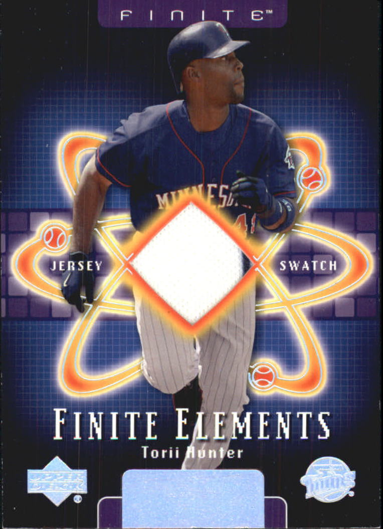2003 Upper Deck Finite Elements Game Jersey #TH Torii Hunter