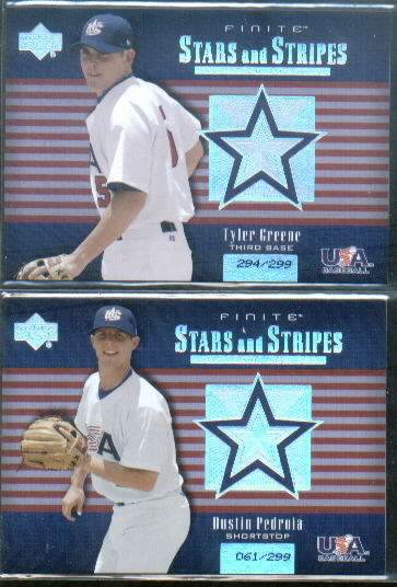 2003 Upper Deck Finite Stars and Stripes #12 Tyler Greene