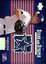 2003 Upper Deck Finite Stars and Stripes Game Jersey #J8 Stephen Head