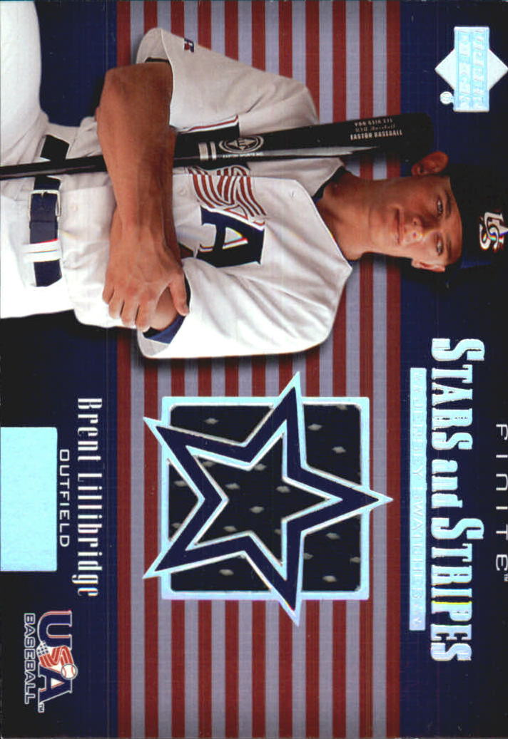 2003 Upper Deck Finite Stars and Stripes Game Jersey #J18 Brent Lillibridge
