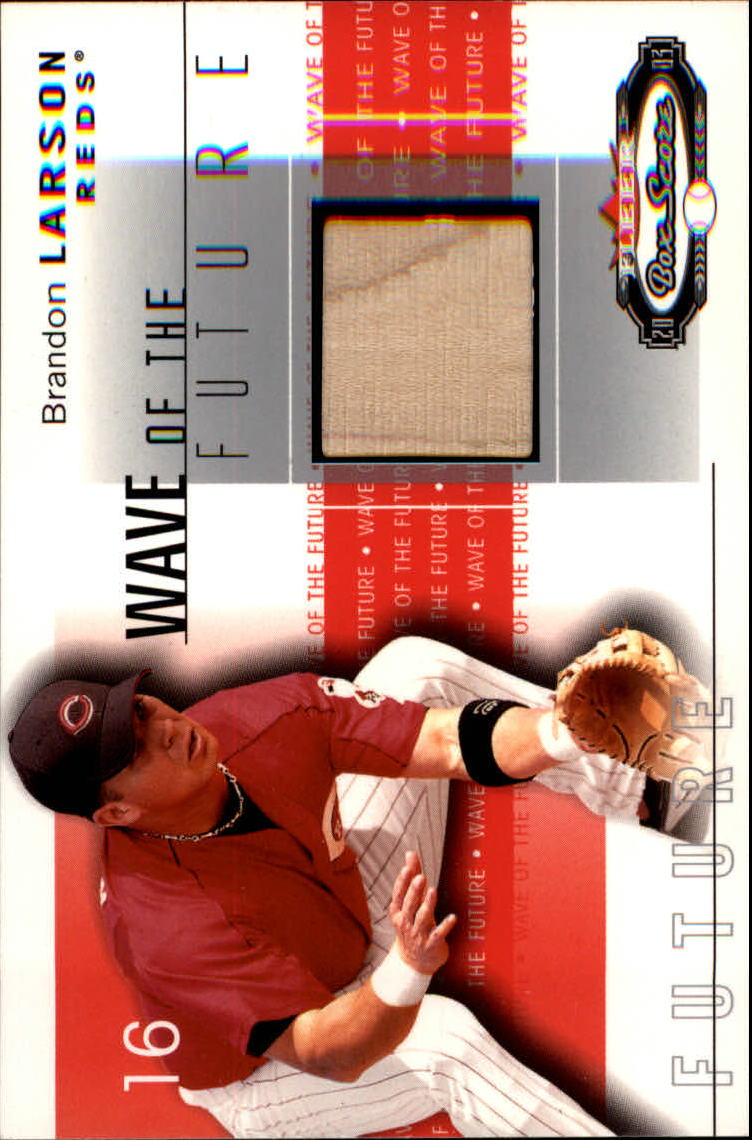 2003 Fleer Box Score Wave of the Future Game Used #BL Brandon Larson Bat