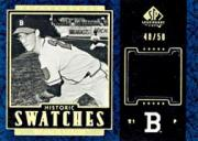 2003 SP Legendary Cuts Historic Swatches Blue #WS Warren Spahn CO Jsy