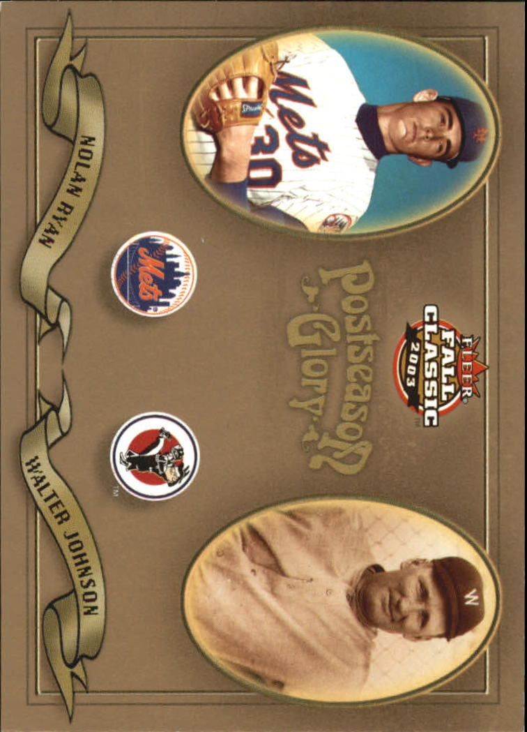 2003 Fleer Fall Classics Postseason Glory #21 N.Ryan/W.Johnson