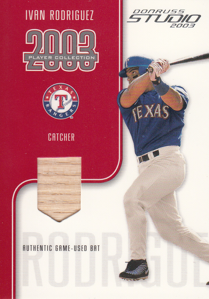 2003 Studio Player Collection #78 Ivan Rodriguez Bat