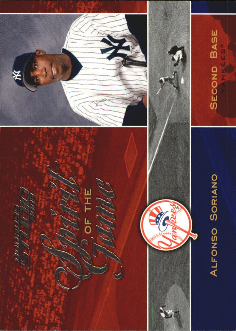2003 Studio Spirit of the Game #7 Alfonso Soriano