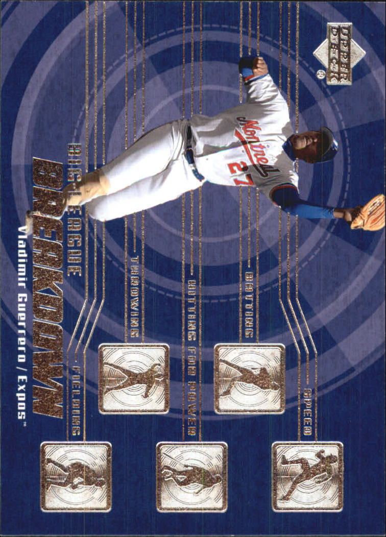 2003 Upper Deck Big League Breakdowns #BL10 Vladimir Guerrero