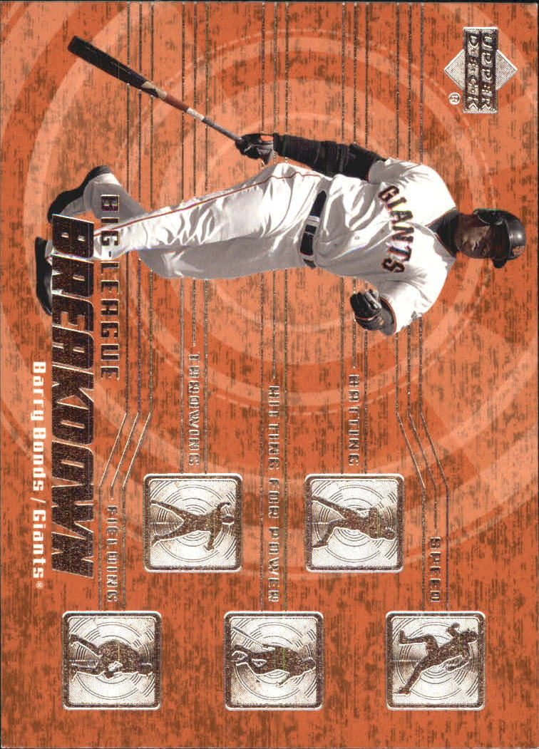 2003 Upper Deck Big League Breakdowns #BL13 Barry Bonds