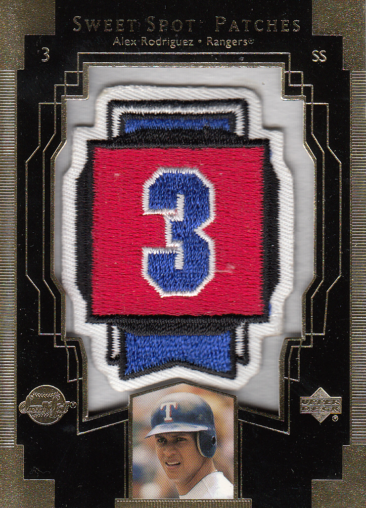 2003 Sweet Spot Patches #AR1 Alex Rodriguez