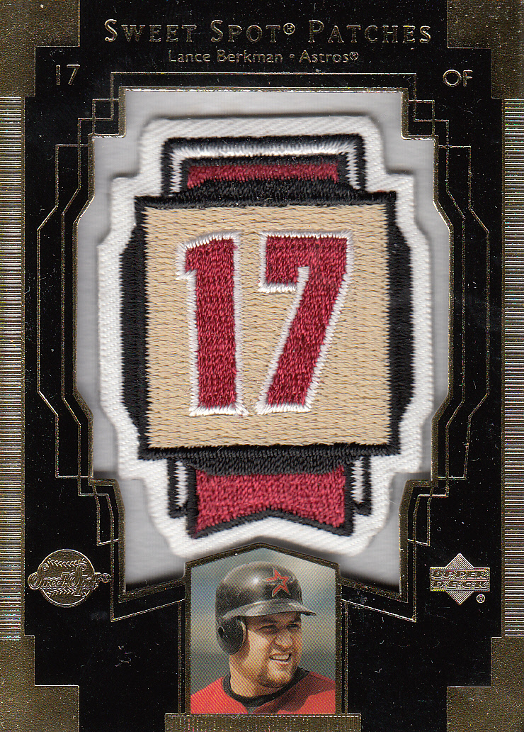 2003 Sweet Spot Patches #LB1 Lance Berkman