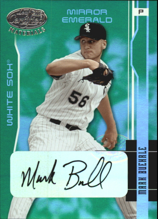 2003 Leaf Certified Materials Mirror Emerald Autographs #39 Mark Buehrle