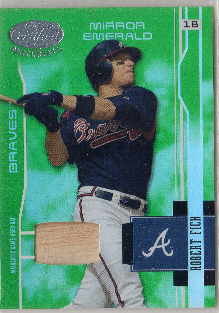 2003 Leaf Certified Materials Mirror Emerald Materials #17 Robert Fick Bat