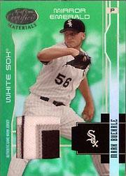 2003 Leaf Certified Materials Mirror Emerald Materials #39 Mark Buehrle Jsy