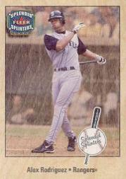 2003 Fleer Splendid Splinters #93 Alex Rodriguez Wood