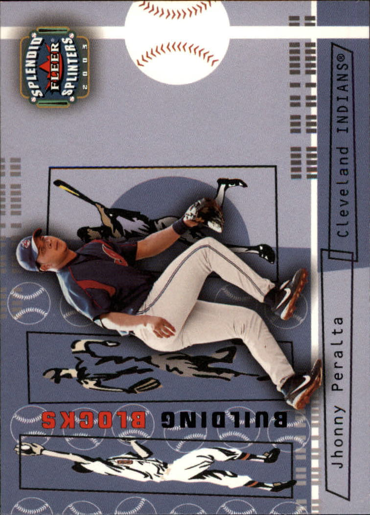 2003 Fleer Splendid Splinters #117 Jhonny Peralta BB
