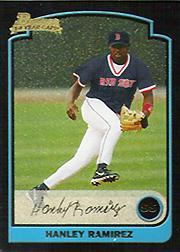 2003 Bowman Uncirculated Metallic Gold #285 Hanley Ramirez