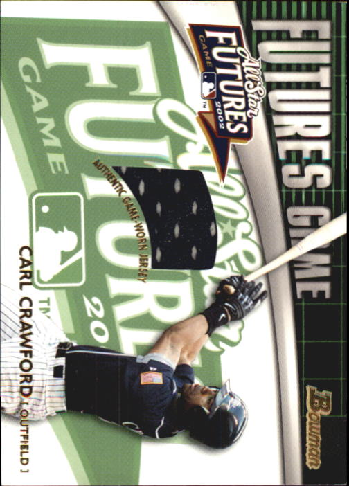 2003 Bowman Futures Game Gear Jersey Relics #CC Carl Crawford