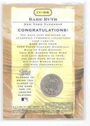 2003 Topps Gallery HOF Currency Connection Coin Relics #BR B.Ruth 1916 Dime A back image