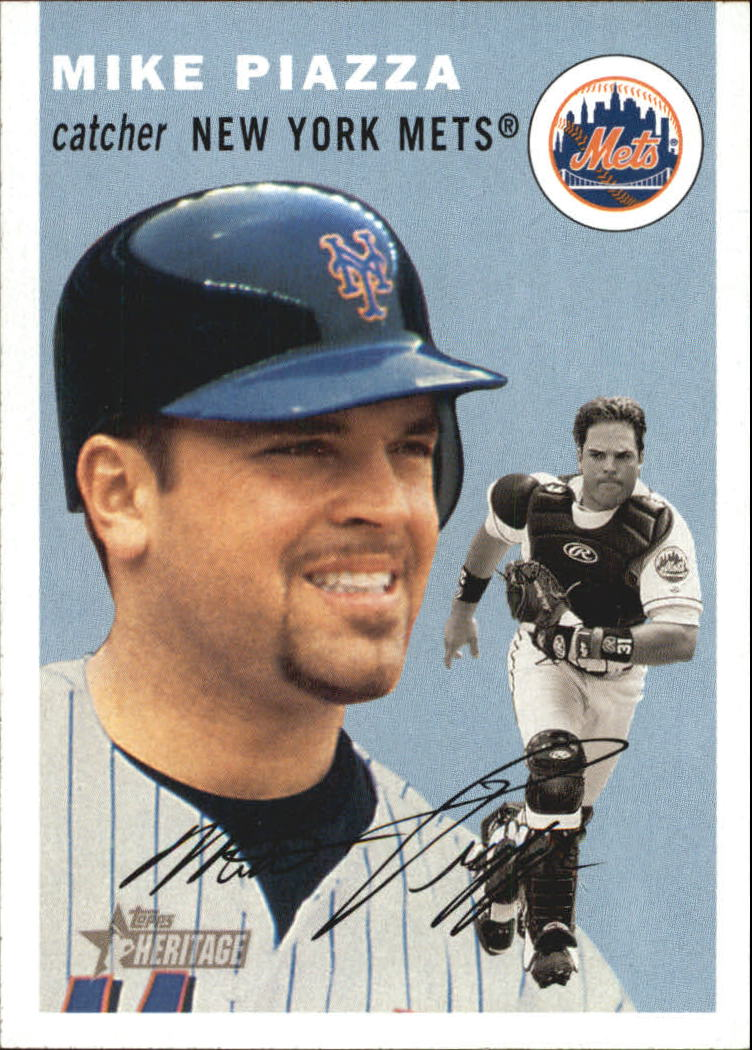 2003 Topps Heritage #150A Mike Piazza Blue