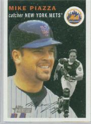 2003 Topps Heritage #150B Mike Piazza Black SP