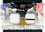 2003 Fleer Genuine Longball Threats Dual Swatch #8 Shawn Green/Jason Giambi