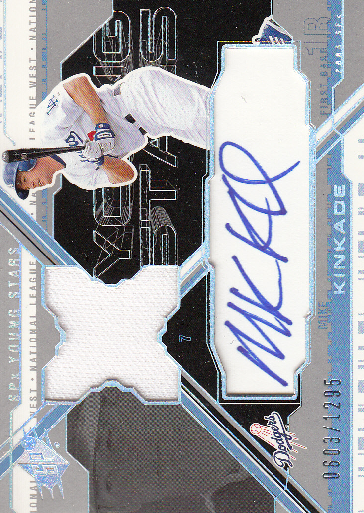 2003 SPx Young Stars Autograph Jersey #MK Mike Kinkade/1295