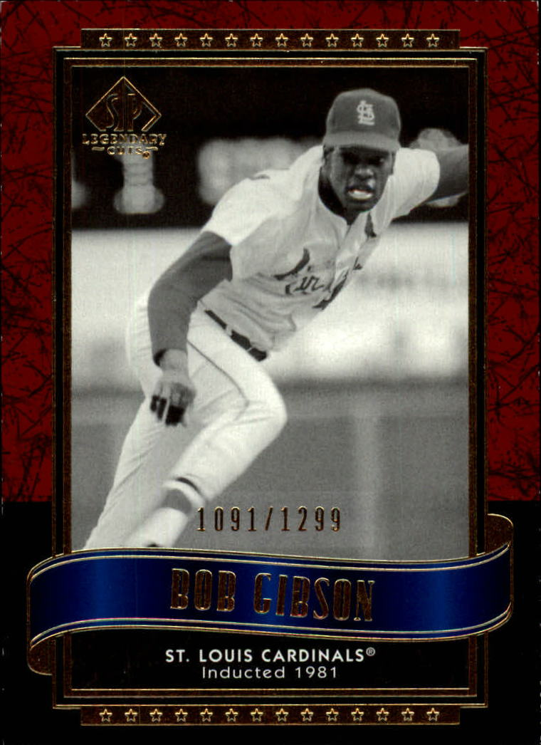 2003 SP Legendary Cuts #13 Bob Gibson/1299