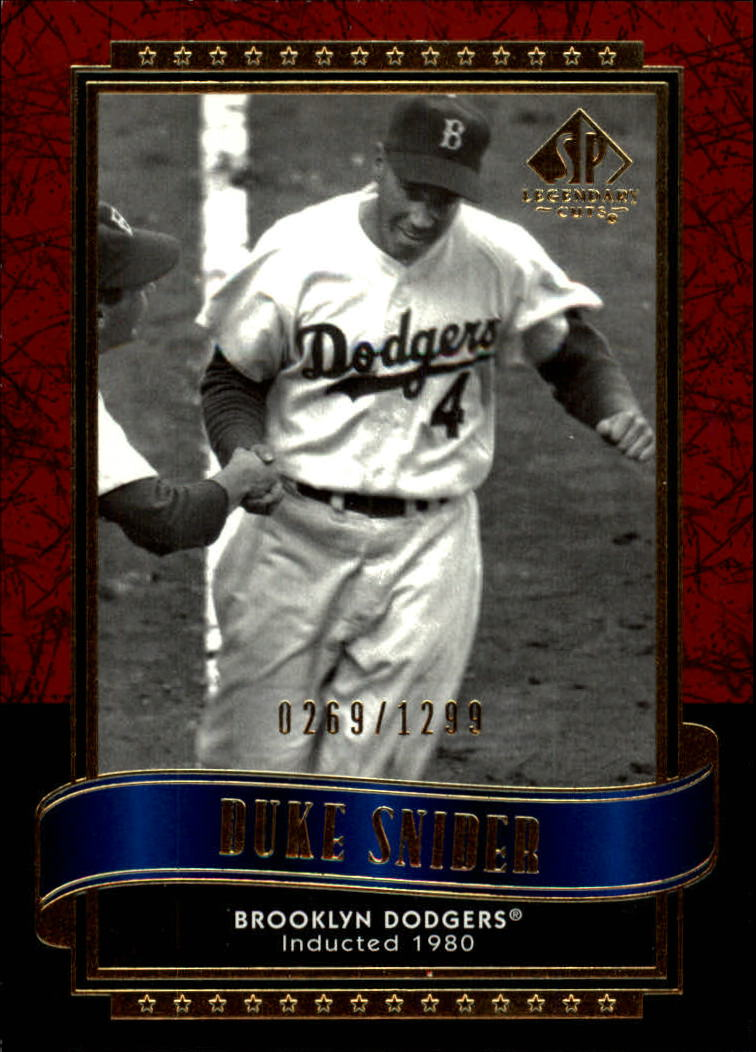 2003 SP Legendary Cuts #31 Duke Snider/1299