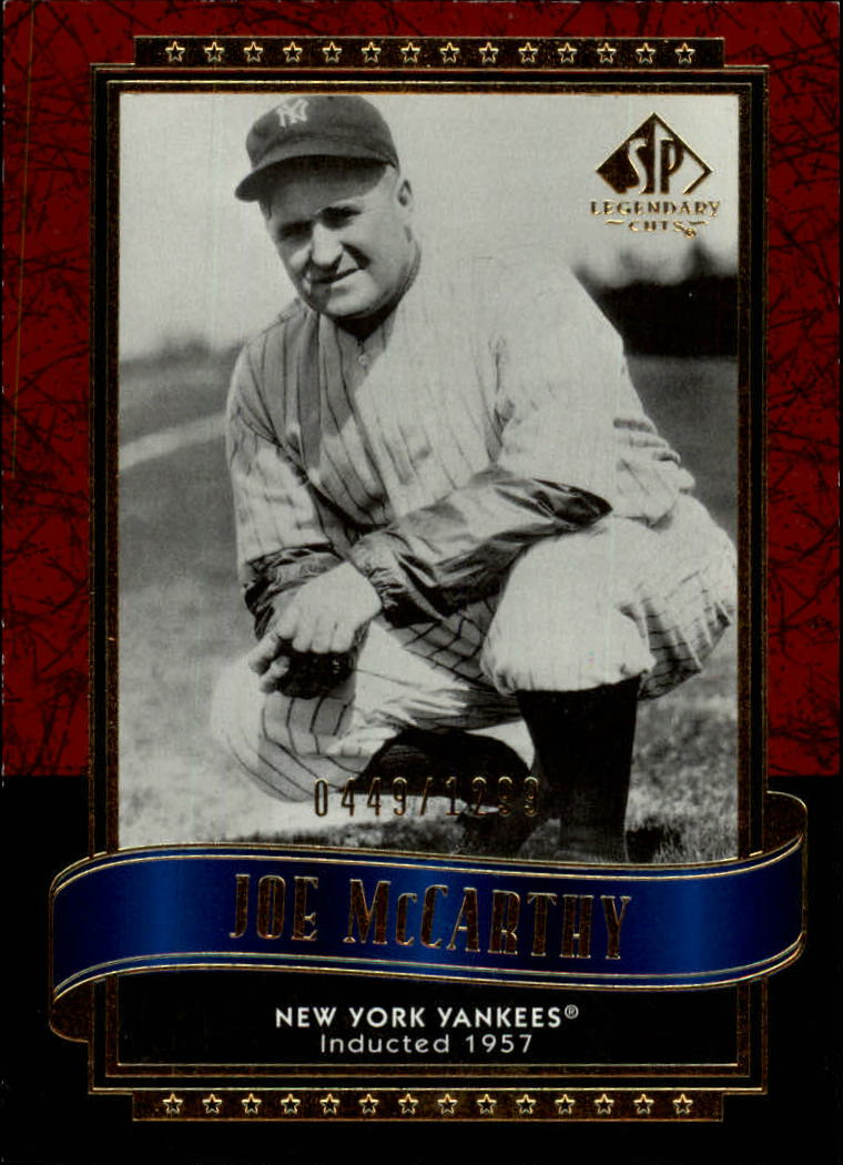 2003 SP Legendary Cuts #63 Joe McCarthy/1299