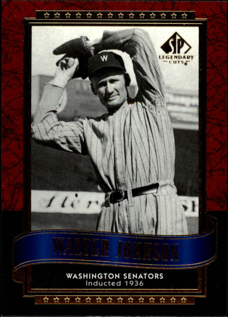 2003 SP Legendary Cuts #126 Walter Johnson