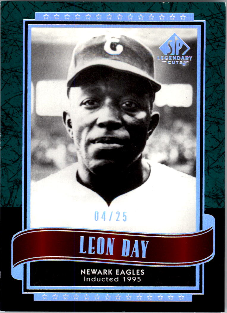 2003 SP Legendary Cuts Green #82 Leon Day