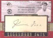 2003 SP Legendary Cuts Autographs #JF Jimmie Foxx/3